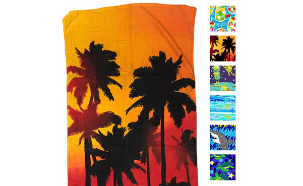 "6-Pack: 100% Cotton 28"" x 58"" Beach Towels"