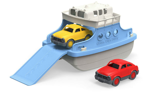 Green Toys Ferry Boat with Mini Cars Bathtub Toy