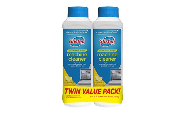 Glisten Dishwasher Cleaner and Disinfectant, 2 Pack