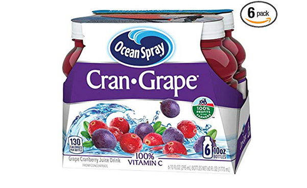 Ocean Spray Cran-Grape Juice Drink, Pack of 6