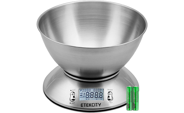 Etekcity Digital Kitchen Scale with Removable Bowl