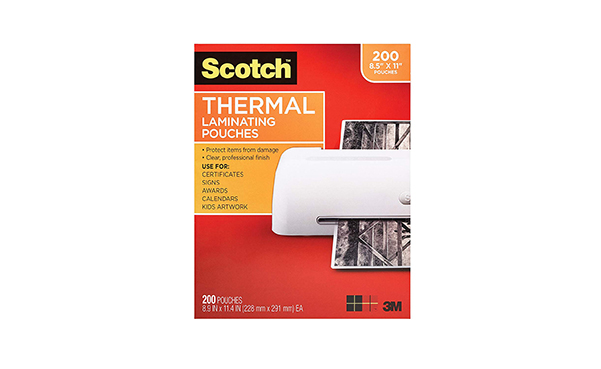 Scotch Thermal Laminating Pouches, 200-Pack