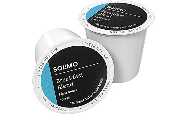 Solimo Light Roast Coffee K-Cup Pods, 100 Count