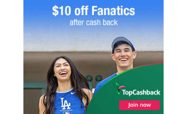 Get $10 of Merchandise at Fanatics for Free