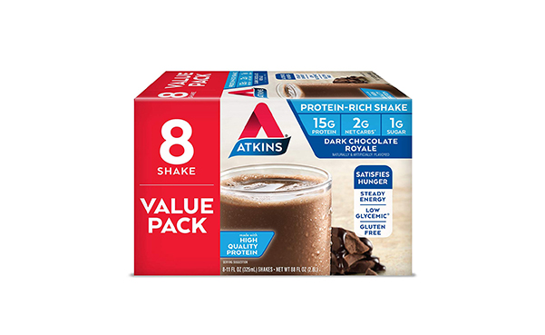 Atkins Dark Chocolate Royale Protein-Rich Shake, 8 Count