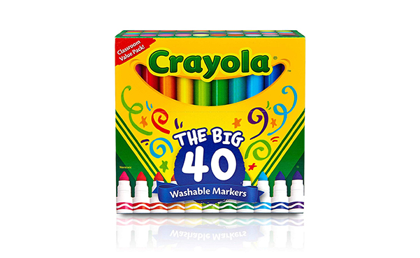 Crayola Washable Broad Line Markers, 40 Colors