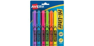Avery Hi-Liter Pen-Style Highlighters