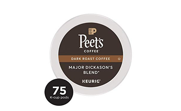 Peet's Coffee Dark Roast K-Cup Pods, 75 Count