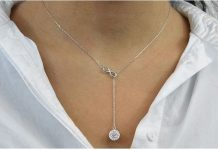 Sterling Silver Infinity Y-Necklace