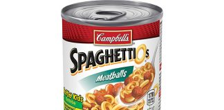 Campbell's SpaghettiOs Canned Pasta with Meatballs