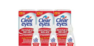 Clear Eyes Redness Relief Eye Drops, 3-Pack