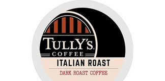 Tully's Coffee Italian Roast, K-Cup, 72-Count