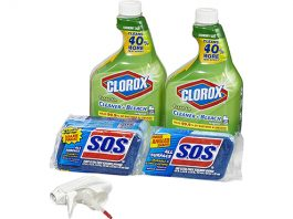 Clorox Clean-Up Bleach Cleaner Spray and Scrubber Value Pack