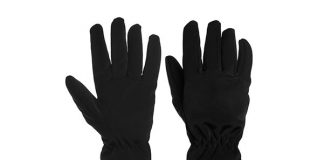 DG Hill Soft Shell Water Resistant Warm Fleece-Lined Gloves