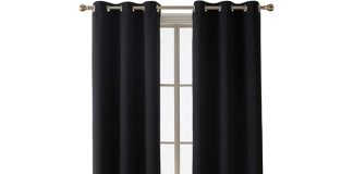 Deconovo Thermal Insulated Blackout Grommet Window Curtain