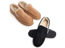 Gold Toe Men's Memory Foam Loafer Slippers