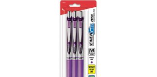 Pentel Retractable Gel Ink Pen, 3-Pack