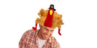 Plush Turkey Pilgrim Hat