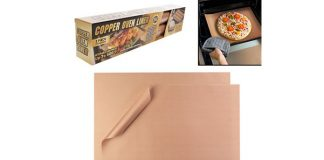 Tekno Reusable Copper Oven Liner, 2-Pack