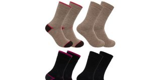 Women's Merino Wool Blend Socks, 2-Pack