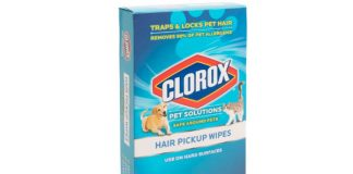 20ct Clorox Hair Pickup Wipes – Removes 99% Of Pet Allergens