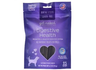 Get Naked Grain Free 1 Pouch 6.2 Oz Digestive Health Dental Chew Sticks, Small