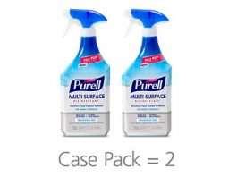 PURELL Multi Surface Disinfectant Spray – Fragrance Free, VOTED 2018 PRODUCT OF THE YEAR - 28 oz. Spray Bottle (Pack of 2) - 2846-02-EC - 2846-02-ECCAL