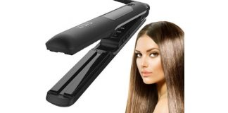 "Professional Steam Straightener by Xtava – Ceramic 1"" Flat Iron"