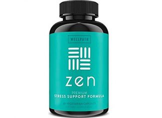 Zen Anxiety and Stress Relief Supplement - Natural Herbal Formula Supporting Calm, Positive Mood with Ashwagandha, L-Theanine, Rhodiola Rosea - 60 Vegetarian Capsules