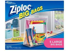 Ziploc Big Bags, Large, 5-Count