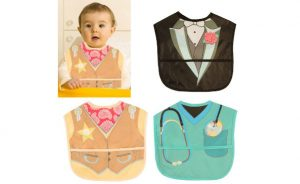 3pk Embelle Wipe-Off Baby Bibs With Pockets To Catch Food