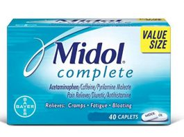Midol Complete, with Acetaminophen, Menstrual Period Symptoms Relief Including Premenstrual Cramps, Pain, Headache, and Bloating, Caplets, 40 Count