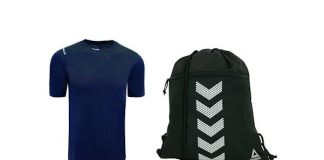 Reebok Men's T-Shirt and Sackpack Bundle