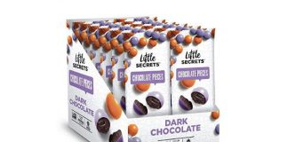 Little Secrets Chocolate Pieces, Dark Chocolate Flavor, All Natural, Non-GMO, Fair Trade Certified, Gourmet Dark Chocolate Candy, No Artificial Dyes, Healthy Treats (12 Snack Packs)