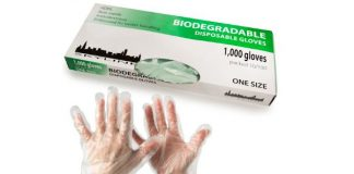 1000ct Biodegradable Disposable Plastic Gloves – Protects Skin