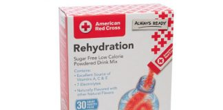 30pk American Red Cross Rehydration Powdered Drink Mix