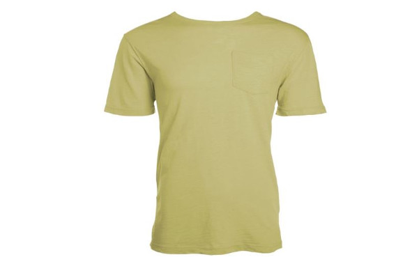 100% Cotton Crew T-Shirt With Pocket - Sunwashed Solid Colors