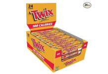 Twix 100 Calories Caramel Chocolate Cookie Bar Candy 0.71-Ounce Bar 24-Count Box