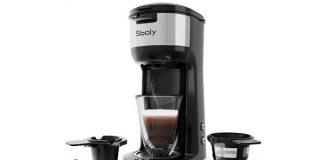 Single Serve Coffee Maker Brewer for K-Cup Pod & Ground Coffee, Compact Design Thermal Drip Instant Coffee Machine with Self Cleaning Function, Brew Strength Control by Sboly
