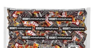 HERSHEY'S Assorted Chocolate Miniatures (HERSHEY'S, KRACKEL, & MR. GOODBAR) Easter Candy, Bulk Variety Pack, 4.1 Pounds