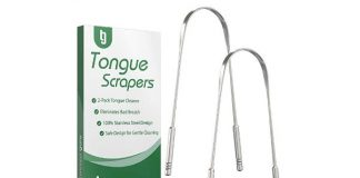 Tongue Scraper - Professional Stainless Steel Tongue Cleaner by Tweezer Guru - No Mold Buildup - Perfect Tool for Oral Hygiene - Eliminate Bad Breath with Your Very Own Tongue Sweeper Today (2-Pack)