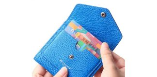 Borgasets Small Leather Wallet for Women, RFID Blocking Women's Credit Card Holder Mini Bifold Pocket Purse