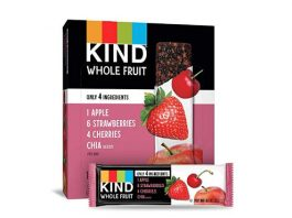 Pressed by KIND Fruit Bars, Strawberry Apple Chia, No Sugar Added, Gluten Free, 1.2 Ounce (12 Count)